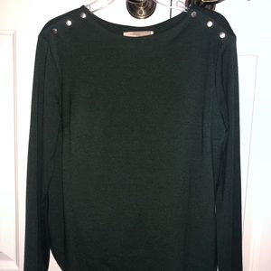 Forever 21 Green Button Top